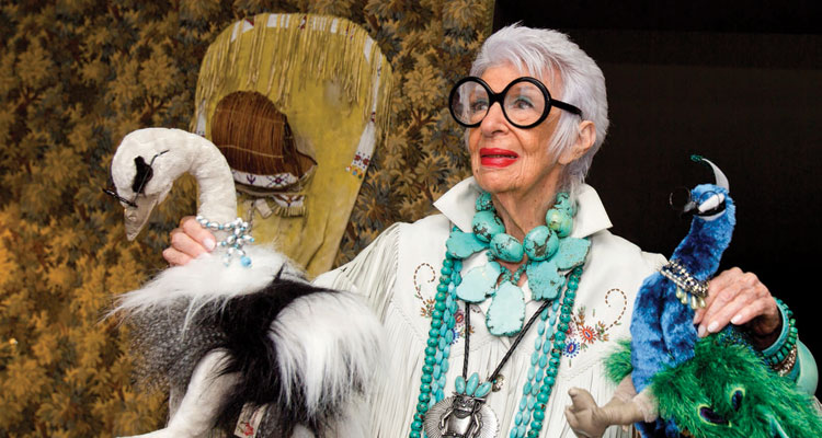 Iris Apfel - photo by Harry Benson - art&culture Winter 2015