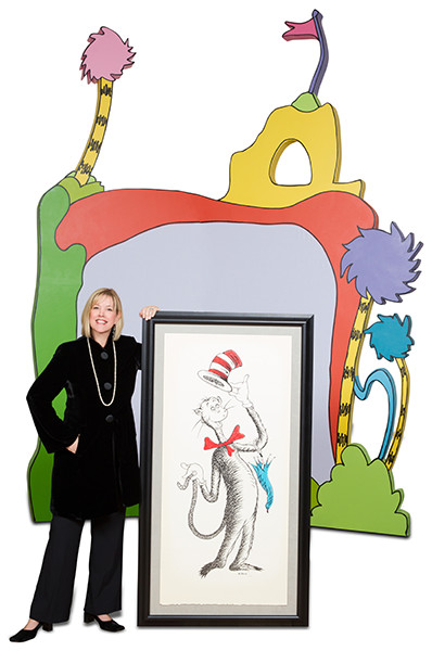 Rena Blades with The Art of Dr Seuss