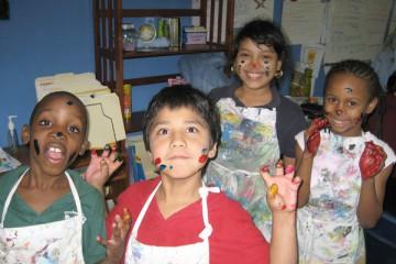 Kids at Summer Arts Camp