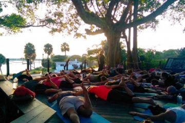 Twilight Yoga at the Lighthouse